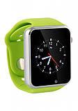Умные часы телефон Smart Watch A1 Green, фото 4