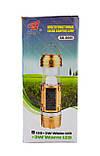 Аккумуляторная кемпинговая LED лампа Sheng Ba SB 9699 c фонариком и солнечной панелью Black, фото 9