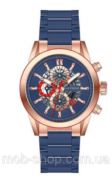 Мужские оригинальные наручные часы Mini Focus MF0285G Blue-Cuprum