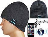 Шапка с Bluetooth 3.0 гарнитурой (Music Hat) темно-серая, фото 3