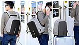 """Рюкзак Bobby 2.0 17"""" XD Design c защитой от карманников и с USB для зарядки (Реплика) (4581), фото 10"""