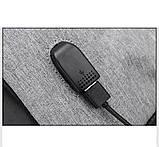 """Рюкзак АНТИВОР Bobby 17"""" c защитой от карманников и с USB зарядным устройством серый, фото 4"""
