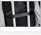 """Рюкзак АНТИВОР Bobby 17"""" c защитой от карманников и с USB зарядным устройством серый, фото 6"""