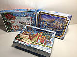Новогодняя коробка с крышкой, Санта, 1000 гр, Картонная упаковка для конфет и подарков, фото 3