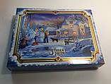 Новогодняя коробка с крышкой, Санта, 1000 гр, Картонная упаковка для конфет и подарков, фото 4