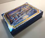 Новогодняя коробка с крышкой, Санта, 1000 гр, Картонная упаковка для конфет и подарков, фото 6