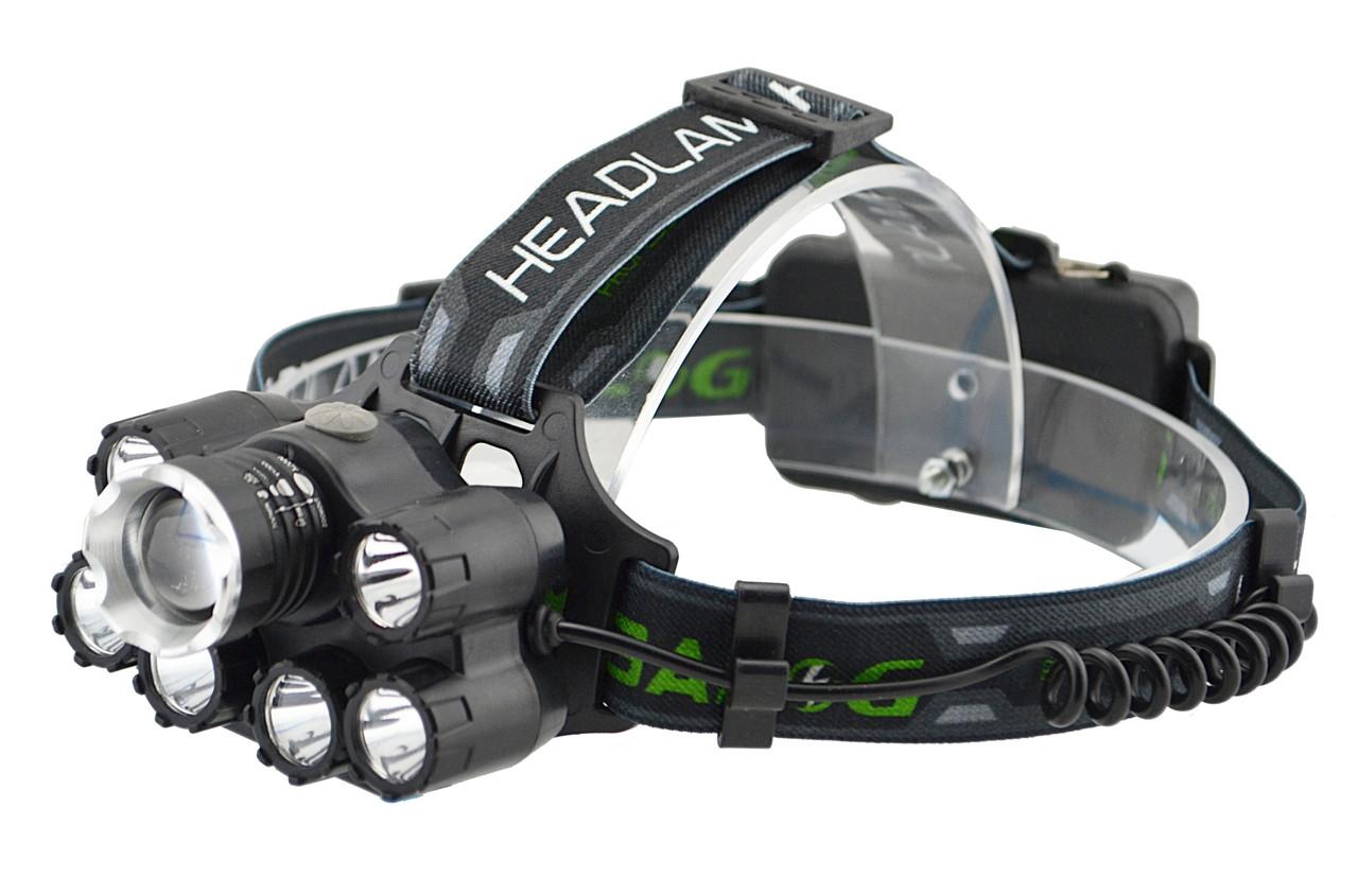 Налобный фонарик BL POLICE T73-T6 (2 зарядных, 2 аккумулятора, 7 диодов)