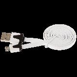 Кабель плоский Defender USB08-03P USB2.0 AM-MicroBM  USB - micro USB 1 метр, фото 2