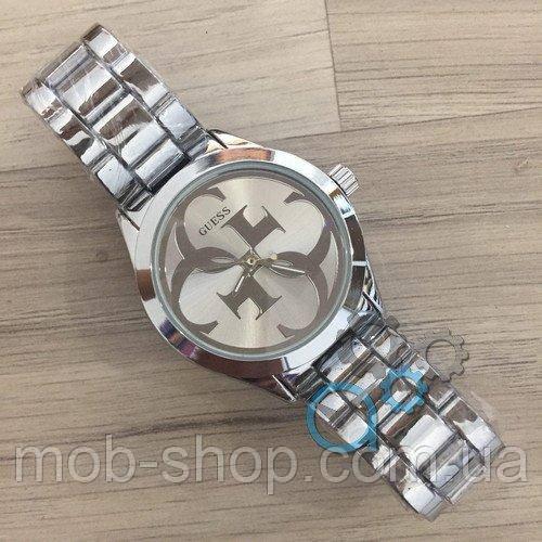 Чоловічий наручний годинник Guess 7222 GZM Silver-Silver