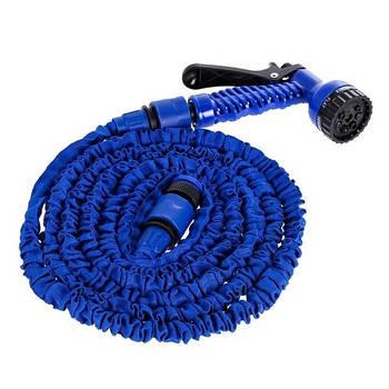 Шланг для поливу X HOSE 15 м + розпилювач (синій)