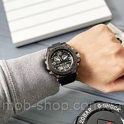 Чоловічий наручний годинник Casio G-Shock GLG-1000 All Black кварцовий і електронний механізм