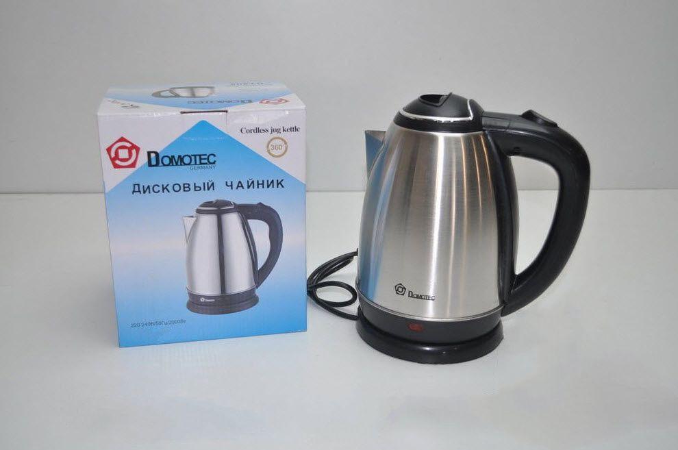 Электрочайник чайник нержавеюща сталь 2 л Domotec
