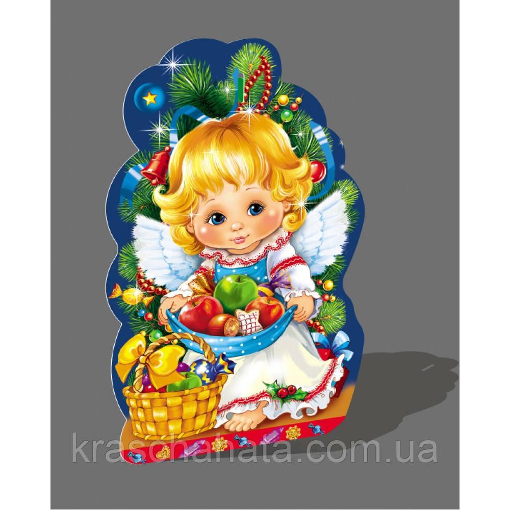 Новогодняя коробка, Ангел, 350-400 гр, Картонная упаковка для конфет,