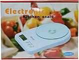 Кухонные электронные весы со стеклянной чашей SСА 301 5 кг + батарейки (белый), фото 2