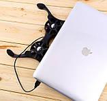 Подставка для ноутбука кулер ErgoStand 41125 осьминог с подсветкой, фото 4