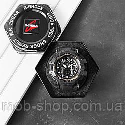 Чоловічий наручний годинник Casio G-Shock GW-A1100 All Black New кварцовий і електронний механізм