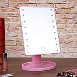 Зеркало для макияжа с LED подсветкой Large Led Mirror 16 LED (5308), фото 7