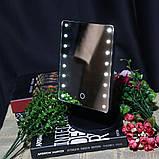 Зеркало для макияжа с LED подсветкой Large Led Mirror 16 LED (5308), фото 9