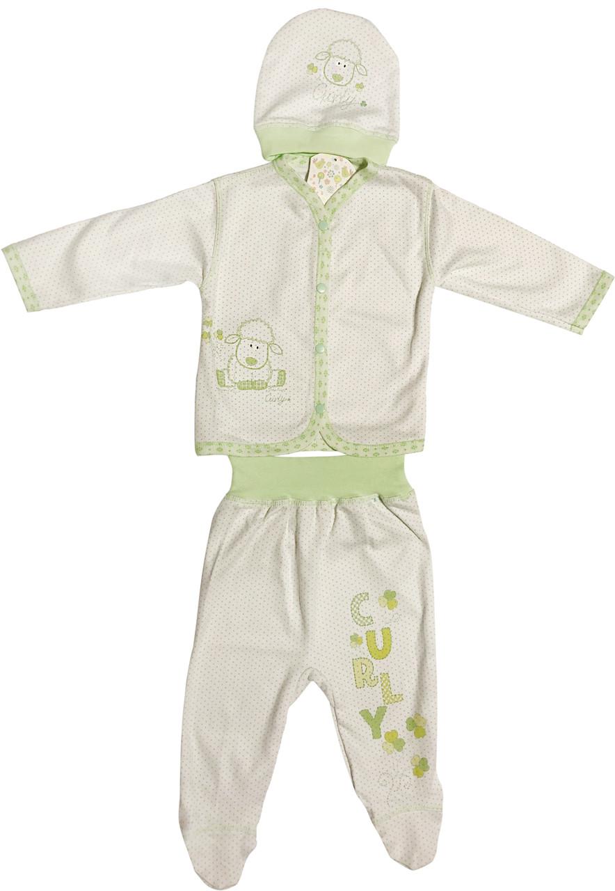 Дитячий костюм зростання 62 2-3 міс трикотажний білий костюмчик на хлопчика на дівчинку комплект для новонароджених малюків СН101