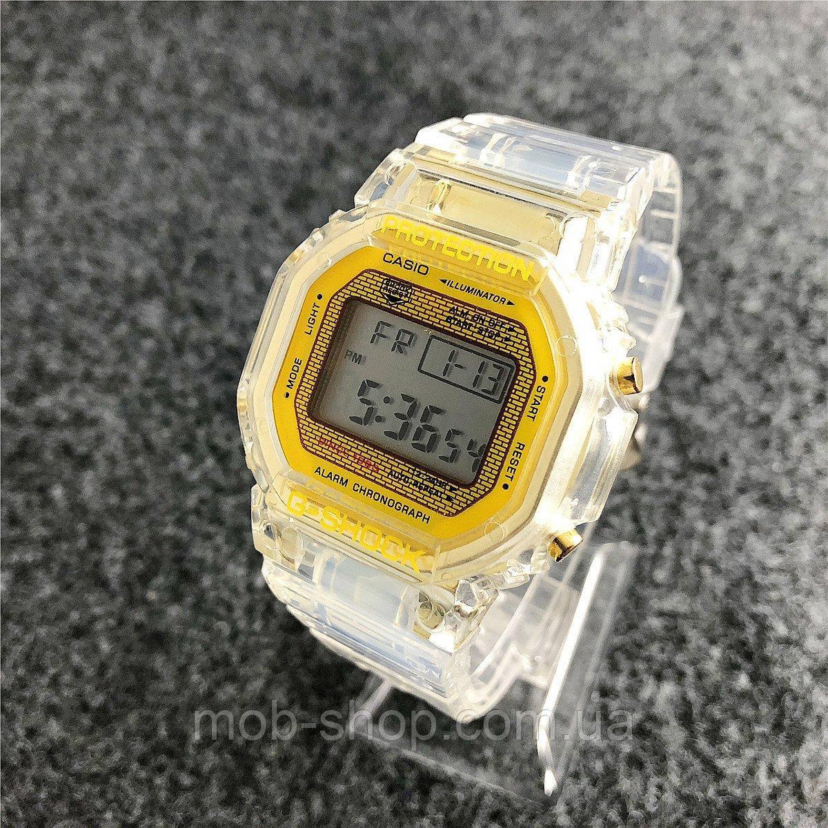 Женские электронные наручные часы Casio GS-1015 Gold