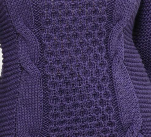 Свитер женский фиолетового цвета вязаный over size размер 44-50, фото 2