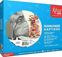 """Набор акриловый живопись по номерам, """"Слон с печеньем"""", 35х45см, ROSA START"""
