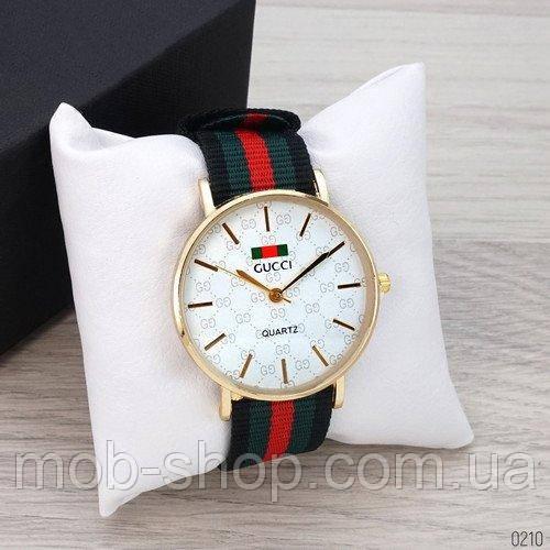 Наручные часы Gucci 6549 Gold-White Green-Red