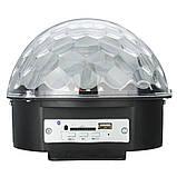 Светомузыка диско шар с Bluetooth MP3 + BT (с пультом и флешкой), фото 3