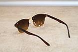 Солнцезащитные очки Ray Ban Clubmaster Клабмастер коричневые (реплика), фото 4