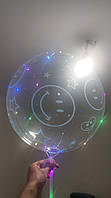 Светяшиеся шары бобо на палочке с рисунками,светодиодные шарики bobo,новинка, фото 1