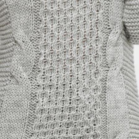 Свитер качественный из шерсти over size размер 44-50 тёмно-серого цвета, фото 2