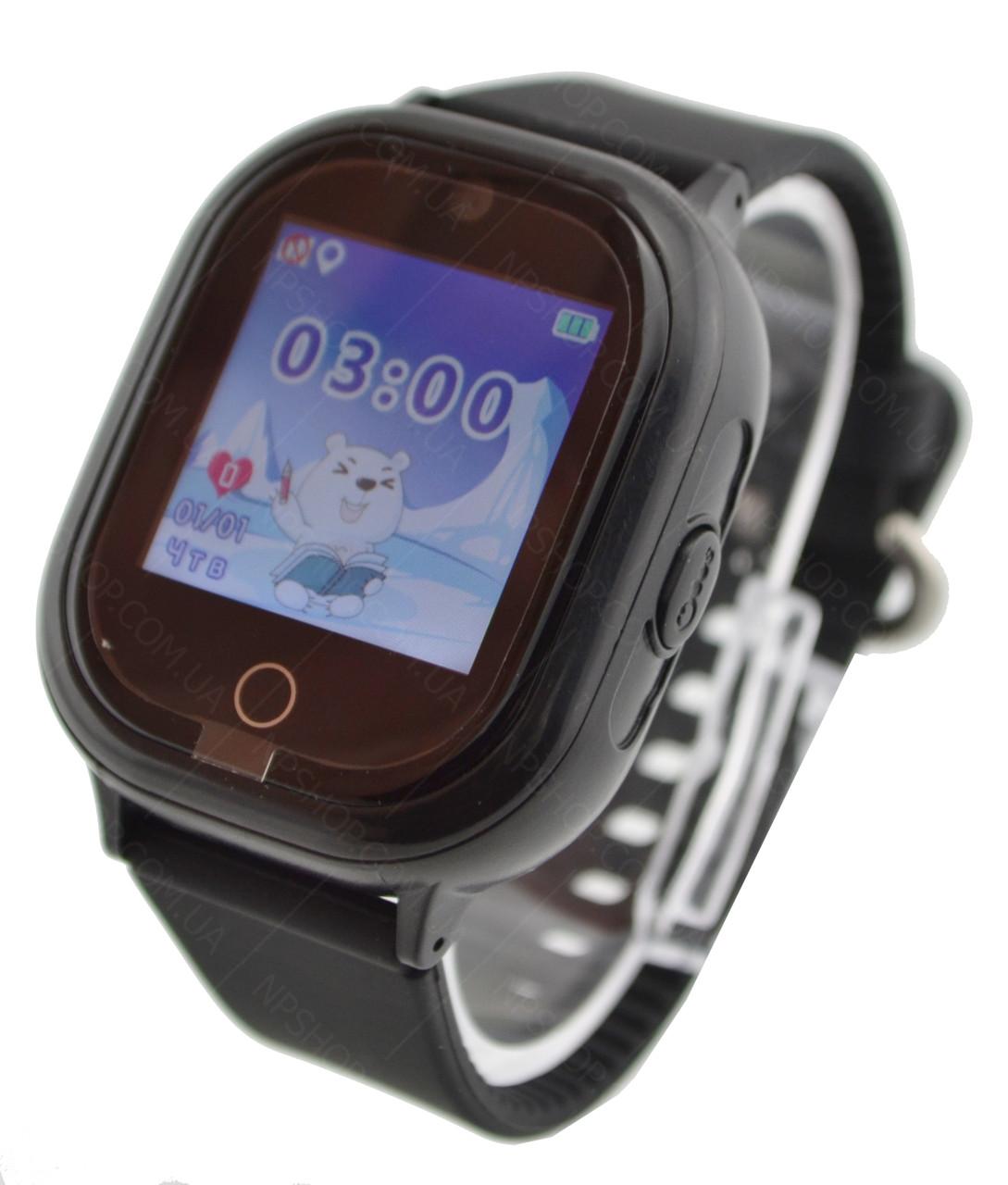 Детские водонепроницаемые телефон-часы с GPS трекером UWatch TD05 черные