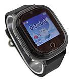 Детские водонепроницаемые телефон-часы с GPS трекером UWatch TD05 черные, фото 2
