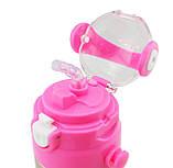 Термос детский с поилкой и шнурком на шею Disney 603 350 мл Frozen Розовый, фото 2