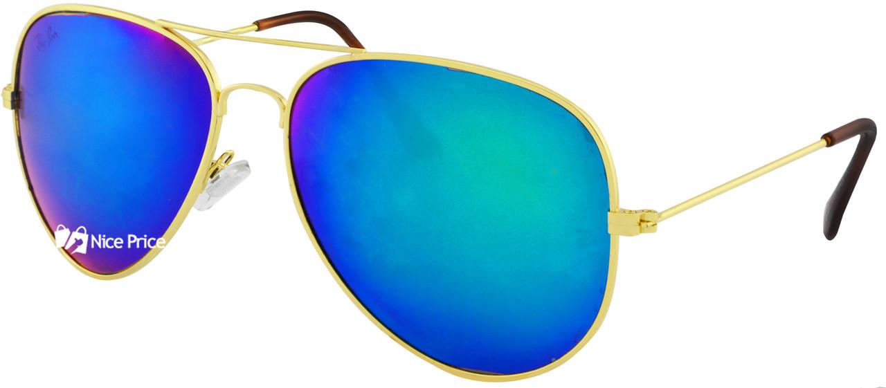Стеклянные солнцезащитные очки Ray Ban Aviator капля RB 3026 3B (реплика)