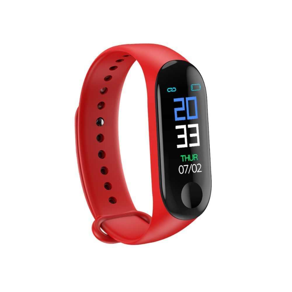 Фитнес браслет Smart Band M3 с кабелем красный