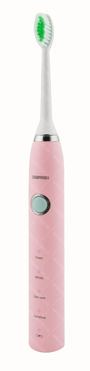 Электрическая зубная щетка Gemei GM906 (4 режима) розовая (4644)