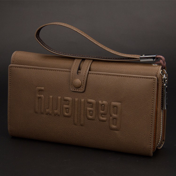 Мужской кошелек клатч портмоне Baellerry S1393 темно-коричневый