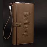 Мужской кошелек клатч портмоне Baellerry S1393 темно-коричневый, фото 2