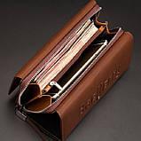 Мужской кошелек клатч портмоне Baellerry S1393 темно-коричневый, фото 3