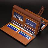 Мужской кошелек клатч портмоне Baellerry S1393 темно-коричневый, фото 4