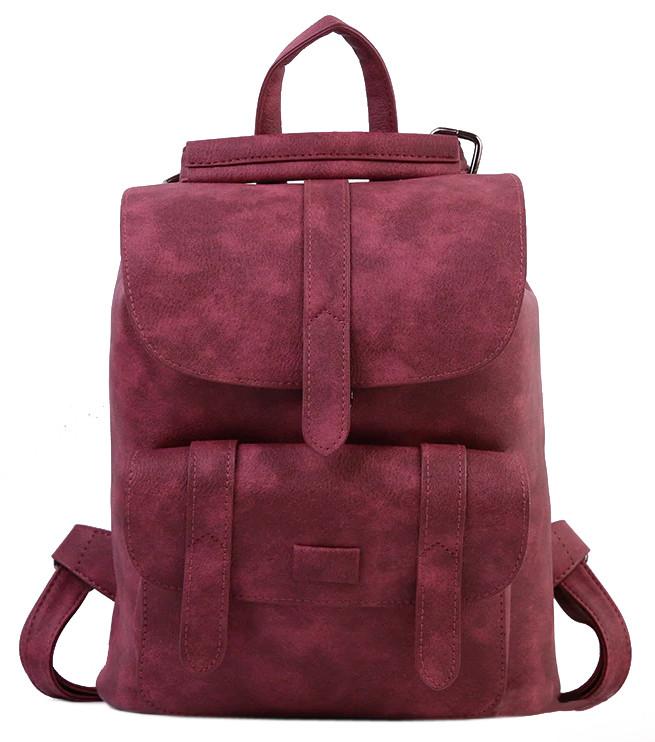 Женский рюкзак-сумка Toposhine бордовый