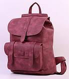 Женский рюкзак-сумка Toposhine бордовый, фото 2