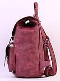 Женский рюкзак-сумка Toposhine бордовый, фото 3