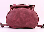 Женский рюкзак-сумка Toposhine бордовый, фото 4