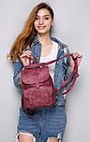 Женский рюкзак-сумка Toposhine бордовый, фото 5
