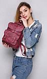 Женский рюкзак-сумка Toposhine бордовый, фото 6