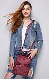 Женский рюкзак-сумка Toposhine бордовый, фото 7