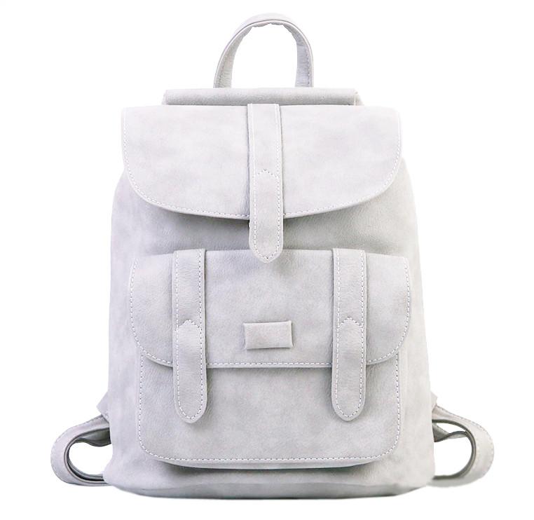 Женский рюкзак-сумка Toposhine светло-серый