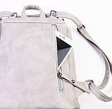 Женский рюкзак-сумка Toposhine светло-серый, фото 4